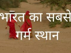 bharat ka sbse garm sthan,(hottest place in india)